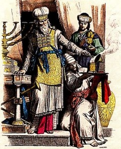 Kohen Gadol (High Priest) and Levites. (Braun & Schneider)