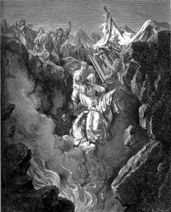"""""""Death of Korah, Dathan, and Abiram"""" by Gustave Doré"""