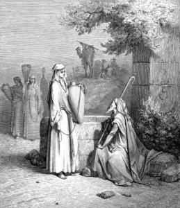 'Eliezer and Rebekah' by Gustav Doré