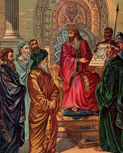 1896 Illustration of King Solomon Drafting the First Temple
