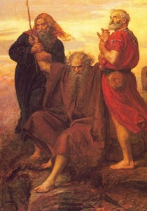 'Victory o Lord!' by John Everett Millais (1871) depicting Aaron and Hur assisting Moses at the Battle of Rephidim against the attacking Amalekites
