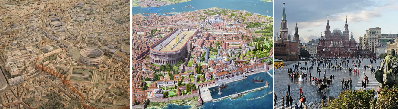 Three Romes: Ancient Rome, Constantinople, and Moscow