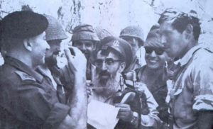 IDF Chief Rabbi Shlomo Goren at the newly-liberated Western Wall in 1967