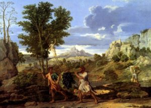 'The Spies With The Grapes Of The Promised Land' by Nicolas Poussin (1664)