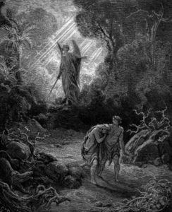 'Adam and Eve Driven Out of Eden' by Gustave Doré