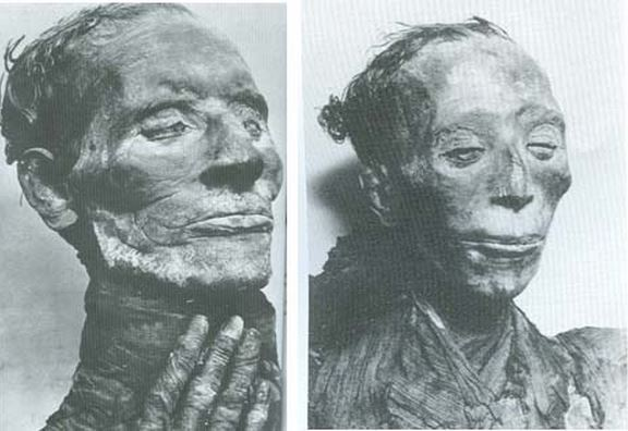 The mummies of Yuya and Tjuyu