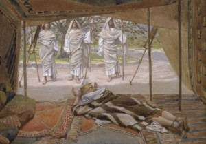 'Abraham and the Three Angels' by James Tissot