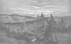 Abraham Journeying to the Land of Canaan, by Gustav Doré