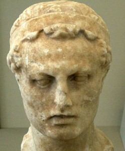 Bust of Antiochus IV Epiphanes, of Chanukah fame, at the Altes Museum in Berlin (Credit-Jniemenmaa)