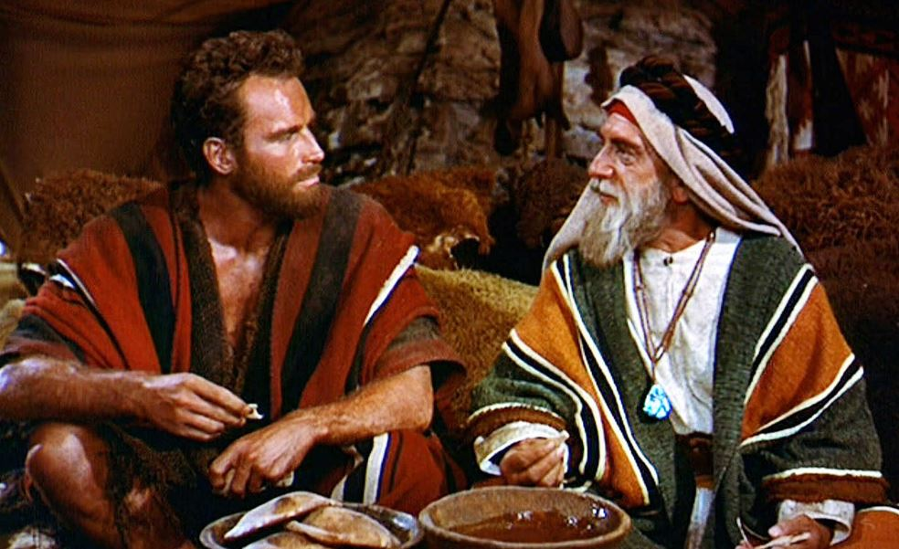 Moses and Jethro in the 1956 film 'The Ten Commandments'