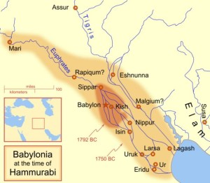 Mesopotamia at the time of Hammurabi