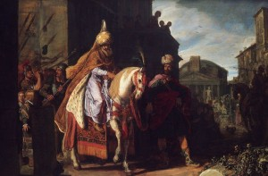 'The Triumph of Mordechai' by Pieter Lastman (1624)