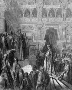 'Solomon Receiving the Queen of Sheba' by Gustav Doré