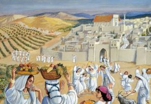 Young Girls Dancing on Tu B'Av (Courtesy: Temple Institute)