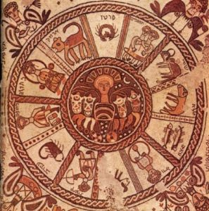 Hebrew Zodiac from a 6th Century Synagogue