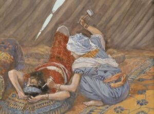 'Jael Smote Sisera, and Slew Him' by James Tissot