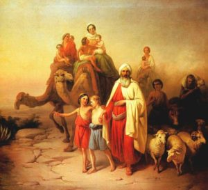 Abraham's Journey to Canaan, by Jozsef Molnar (1850)