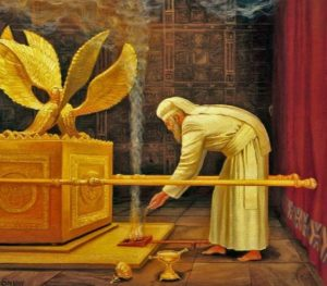 High Priest in the Holy of Holies on Yom Kippur