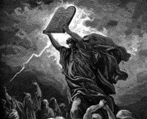 Image result for moses with the ten commandments gustav